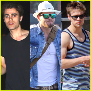 Paul Wesley, Kellan Lutz, & Chord Overstreet Are Day 3 Coachella Dudes!
