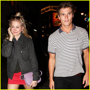 Pixie Lott Dons Miniskirt for Date Night with Oliver Cheshire