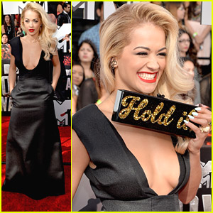 Rita Ora 'Holds It' at the MTV Movie Awards 2014