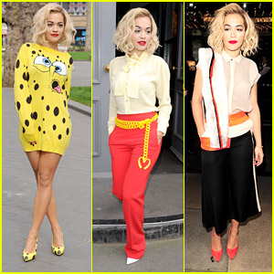 Rita Ora Debuts 'I Will Never Let You Down' Video After Wearing SpongeBob SquarePants Dress for Radio Promo