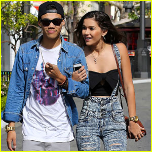 Roshon Fegan & Girlfriend Camia-Marie Chaidez Keep Close at The Grove