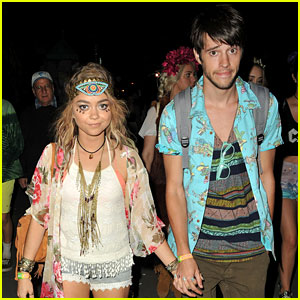 Sarah Hyland Sports Face Jewels for Coachella with Boyfriend Matt Prokop