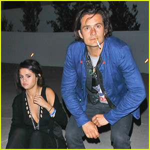 Selena Gomez Hangs With Orlando Bloom After Chelsea Handler Show