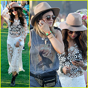 Selena Gomez Sports Sheer Dress For Coachella Outing with Kendall & Kylie Jenner!