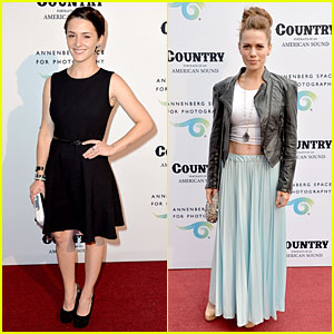 Addison Timlin & Bethany Joy Lenz Show Love For Country Music at Annenberg Space