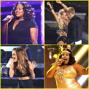 See All The Pics from Amber Riley, Ariana Grande & Cody Simpson's Performance on 'DWTS' Finale!