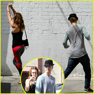 Amy Purdy & Derek Hough Dance In Parking Lot Ahead of DWTS Semi-Finals