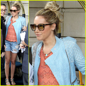 Ashley Tisdale Greets Fans in NYC Before Leaving for 'Exciting Weekend'!