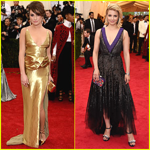 Glee's Lea Michele & Dianna Agron Dazzle at MET Gala 2014