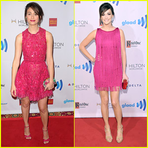 Emmy Rossum & Kacey Musgraves: Pink Ladies at GLAAD Media Awards 2014