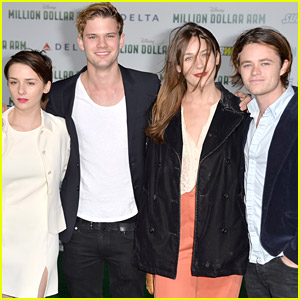 The Cast of 'Fallen' Make First Red Carpet Premiere Together For 'Million Dollar Arm'