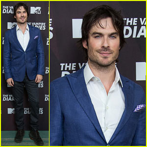 Ian Somerhalder Looks Super Handsome Promoting 'Vampire Diaries'