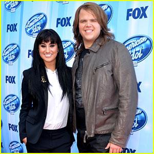 American Idol's Jena Irene & Caleb Johnson Walk the Finale Red Carpet!