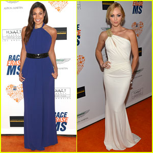 Jordin Sparks & Laura Vandervoort: Elegant Ladies at the 'Race to Erase MS' Event!