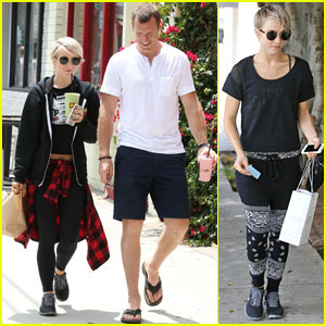 Julianne Hough Finishes Up a 12 Hour Rehearsal with Her Brother Derek!