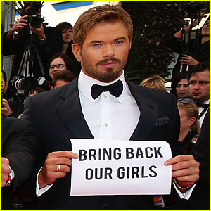 Kellan Lutz Wants to 'Bring Back Our Girls' at Cannes 2014!