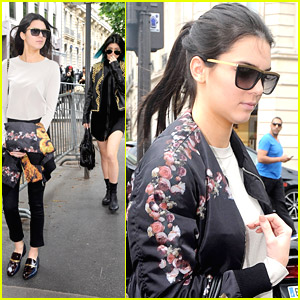 Kendall & Kylie Jenner Shop Around Paris Before Kim Kardashian's Weekend Wedding