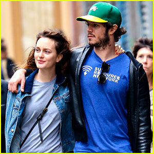 Leighton Meester Takes a Romantic Stroll with Hubby Adam Brody