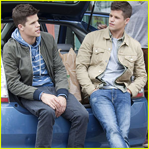 Max & Charlie Carver Film 'The Leftovers' in NYC!