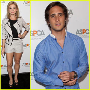 Rose McIver & Diego Boneta Show Love for Animals at ASPCA Event!