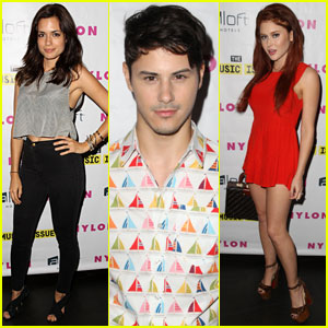 Torrey DeVitto & Renee Olstead Hit Up the 'Nylon' Music Issue Party