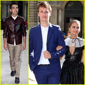Ansel Elgort Hits Paris Fashion Week with Girlfriend Violetta Komyshan!