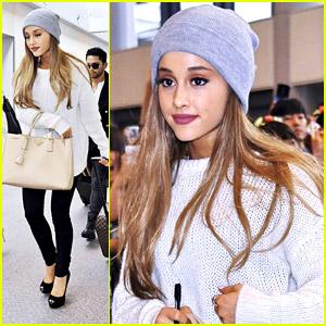 Ariana Grande Touches Down in Tokyo - Fans Go Wild!
