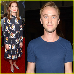 Bonnie Wright & Tom Felton Reunite at Diagon Alley Grand Opening at Universal Studios!