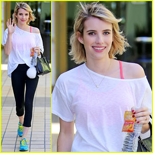 Emma Roberts Keeps Fit at Yoga Class & Reveals Her Next Summer Reading Choice!