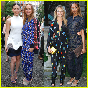 Emmy Rossum & Cara Delevingne Preview Stella McCartney Spring 2015 Collection