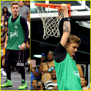 Justin Bieber Reverse Yams It at Sprite's Celeb Basketball Game!