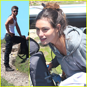 Phoebe Tonkin Starts Filming 'Take Down' in Wales