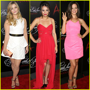 Sasha Pieterse & Janel Parrish Bring Their 'A' Game to the 'Pretty Little Liars' 100th Episode Celebration!