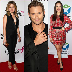 Sophia Bush & Kellan Lutz Step Out for Breast Cancer Fundraiser