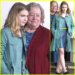 Sophie N�lisse Gets Emotional with Kathy Bates for 'Gilly Hopkins'