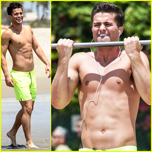 Spencer Boldman Works Out Shirtless in Santa Monica Before 'Zapped' Premiere!