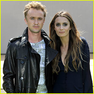 Tom Felton & Jade Olivia Make a Cute Burberry Prorsum Pair!