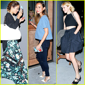 Vanessa Hudgens Reunites with Jena Malone & Jamie Chung for 'Sucker Punch' Dinner