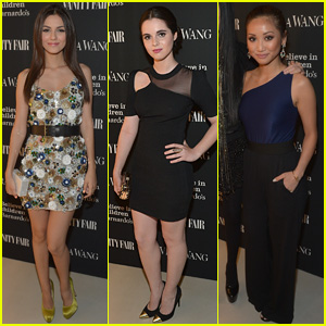 Victoria Justice & Vanessa Marano Strike a Pose at Vera Wang Opening with Brenda Song!