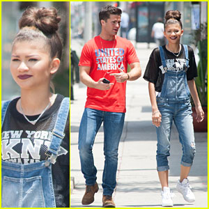 Zendaya & Spencer Boldman Grab Lunch Following the 'Zapped' Premiere!
