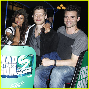 Newlyweds Joseph Morgan & Persia White Give Daniel Gillies A Lift To Comic-Con 2014