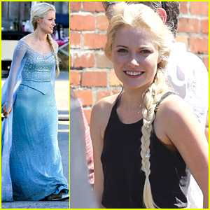 first look at georgina haig as queen elsa on �once upon a