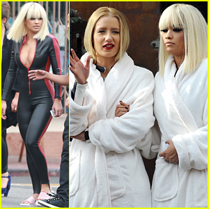 Rita Ora & Iggy Azalea Buddy Up on 'Black Widow' Video Set!