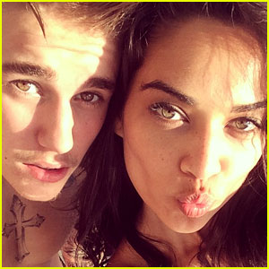Justin Bieber Posts Kissy Photo with Shanina Shaik, Says They're Not Dating