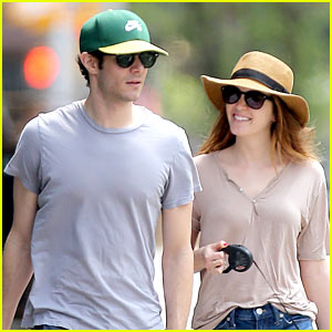 Leighton Meester Has the Look of Love on Dog Walk with Adam Brody!