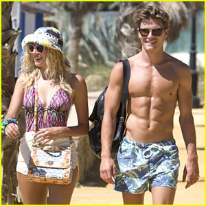 Pixie Lott & Oliver Cheshire Soak Up The Sun in Spain