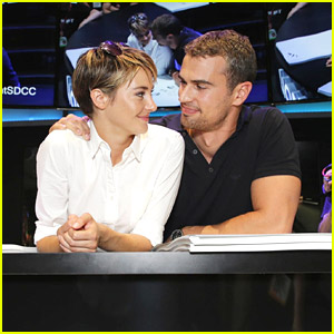 Shailene woodley theo james meet divergent fans at comic con shailene woodley theo james meet divergent fans at comic con 2014 just jared jr in the upcoming movie tris woodley and four james are now m4hsunfo