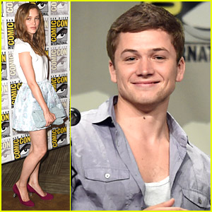 Sophie cookson amp taron egerton bring kingsman the secret service