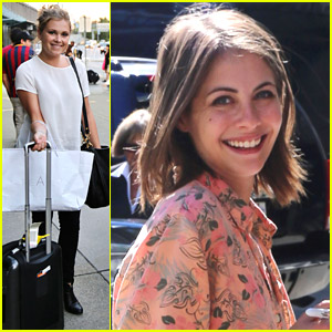 cw stars willa holland eliza taylor amp more arrive back in