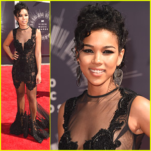 New 'Aaliyah' Biopic Star Alexandra Shipp Hits Up MTV VMAs 2014